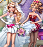 Chloe And Emma Wedding Dress Up