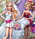 Chloe And Emma Wedding Dress Up