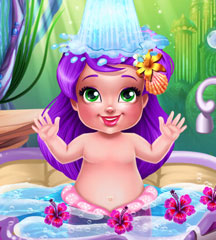 Mermaid Baby Bath